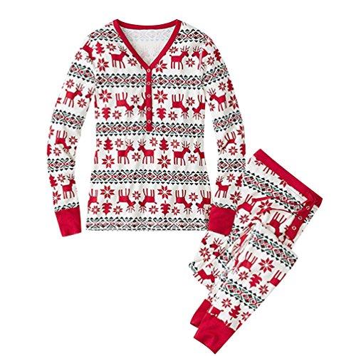 Weihnachten Pyjama Familie Weihnachts Schlafanzug Schlafanzüge Erwachsene Pyjama Set Frauen Männer Kinder Schlafanzüg Weihnachtspyjama Nachtwäsche Mädchen Schlafoverall Baby Jumpsuit Mama XL