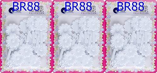 Tara Girls Self Hinge Multi Design Plastic Bow Hair Barrettes Selection Pack Of 3 (BR-106)
