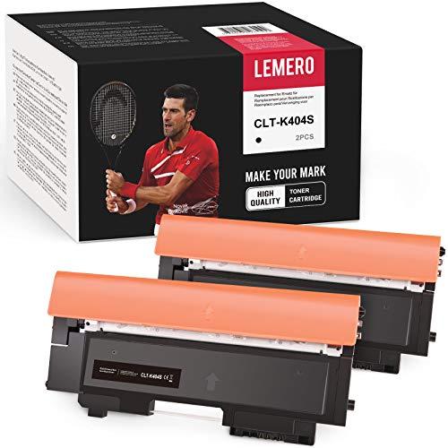 LEMERO 2 Compatible Toner pour Samsung CLT-K404S pour Samsung Xpress SL-C480 SL-C480W SL-C480FN SL-C480FW SL-C430 SL-C430W, CLT-P404C Noir