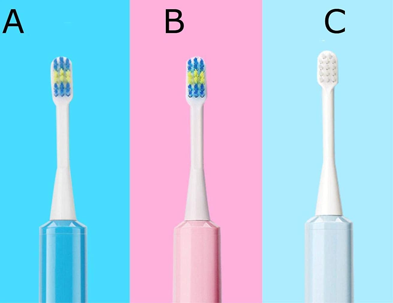 バクテリア名門なぜ電池式の超音波電動歯ブラシ,C