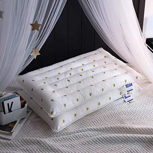 ZWWZ Niedrige Kissen for zu Hause, Zwei Packungen, Ultra-dünner Raster- Kissenkern, Schlafmittel HAIKE