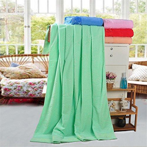 GKRY Schnelltrocknend/super Qualität 100% Baumwolle Baumwoll-Frottee/saugstark flauschig weichReine Baumwolle Reine Baumwolle Handtücher und Kreative und stilvolle Ultra Soft 150 x 200 cm, grün