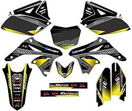 Senge Graphics kit compatible with Suzuki 2010-2018 RMZ 250, Surge Black Graphics Kit