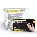 GLOVEWORKS Clear Vinyl Industrial Gloves, Case of 1000, 3 Mil, Size Large, Latex Free, Powder Free, Food Safe, Disposable, Non-Sterile, IVPF46100
