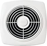 Broan-NuTone 508 Exhaust, 7.0 Sones, 270 CFM, 10' Through Wall Ventilation Fan, Inch 6, White Square Plastic Grille