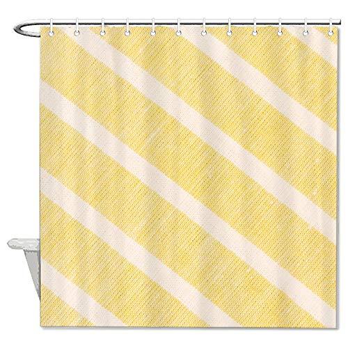 None Brand Streifen-Duschvorhang, Gitter, wasserdicht, langlebig, eleganter Vorhang mit Rutschring-Haken für Badezimmer, Küche, Dekoration, lfmunvnp56em, Polyester, Farbe24-1, 72''x72''