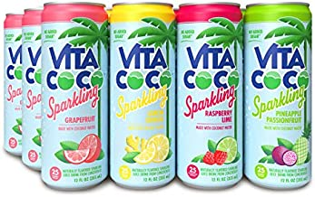 Vita Coco Sparkling Water, Variety Pack | Boosted with Coconut Water | 25 Calories | No Added Sugar | Full of Flavor | 12 Oz (Pack of 12)
