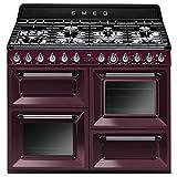 Smeg TR4110RW1 Independiente Encimera de gas A Púrpura - Cocina (Cocina independiente, Púrpura, Giratorio, Encimera de gas, Pequeño, Medio)
