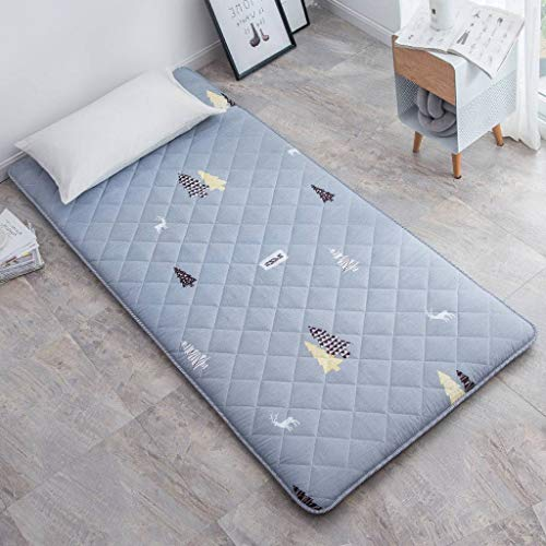 SINKITA Futon Mattress Guest Bed,Thicken Japanese Floor Mattress Collapsible Portable Roll Up Tatami Mat Mattress Topper Quilted-C-200x220cm(79x87inch)