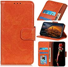 For Oppo K1 Case, Strong Magnetic Closure Leather Wallet Case with Card Holders and Kickstand for Oppo K1 (Color : Orange)