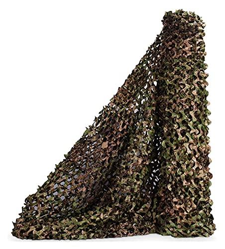 Lanrui 2X3m Patio Netting, Woodland Camuflage Netting, Camo Net para la Caza Tema Militar Kids Den Decoration Sombrilla Camping (Size : 5ft×7ft/1.5m×2m)