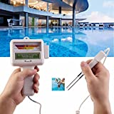 Elikliv Water Quality Tester,Portable Chlorine and PH Tester,PH Water Tester Meter Analysis Chlorine Swimming Pool Test Kit for Aquarium,Pool,Spa,Hot Tub,Drinking Water, Laboratory,Home Brewing
