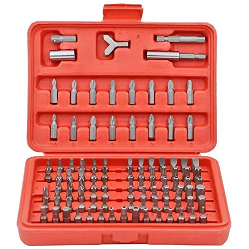 Sturdy 100pcs Chrome Vanadium Steel Power-driven Screwdriver Head Sets Cross Slotted Head Electric Screwdriver Bits Power Tool Set