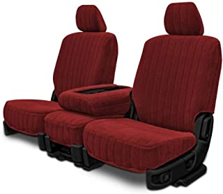 Custom Fit Seat Covers for Datsun 280ZX Front Low Back Seats - Burgundy Madrid Fabric