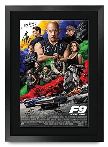 HWC Tradin FR A3 Fast & Furious 9 Vin Diesel, John Cena Geschenken Gedrukte Poster Gesigneerde Handtekening Foto Voor…