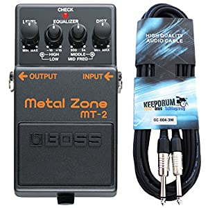 Boss MT-2 Metal Zone Distortion Pedal + keepdrum Gitarrenkabel