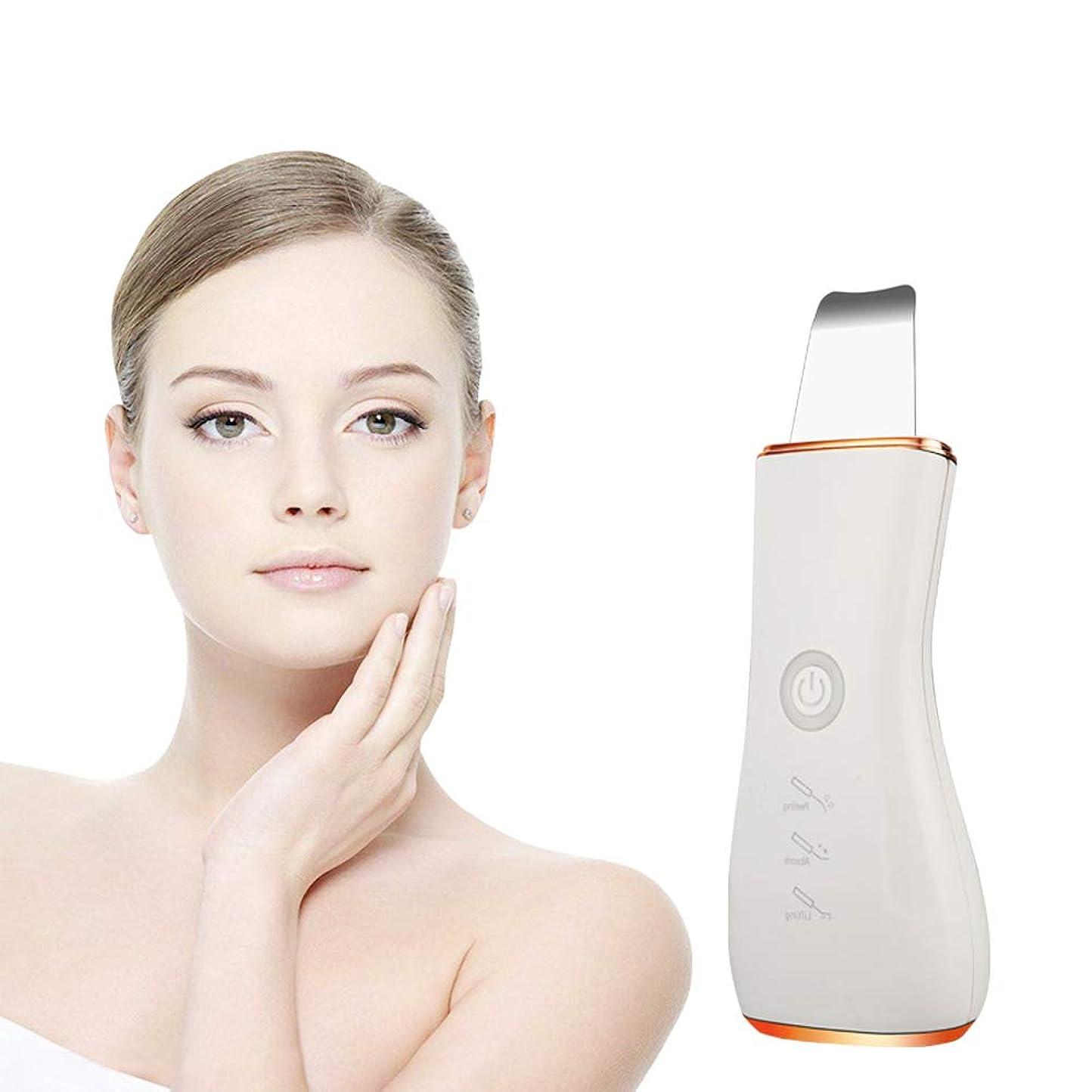 私たちのものエンジニアリング出撃者美顔術の皮のスクラバー、超音波深い表面クリーニング機械は汚れのしみを取除きますしわおよび点を減らす美顔術の白くなること,Gold