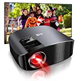 Movie Projector - Artlii Full HD 1080P Support Projector, LED Projector with HiFi Stereo, Home Theater Projector w/ 250' Projection Size for Home Entertainment Movies Sports Nintendo Switch