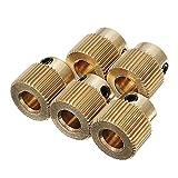 L-Tao Roue d'extrusion en laiton de haute qualité 5pcs 40 dents 5mm avec vis M3 for les pièces de l'imprimante 3D