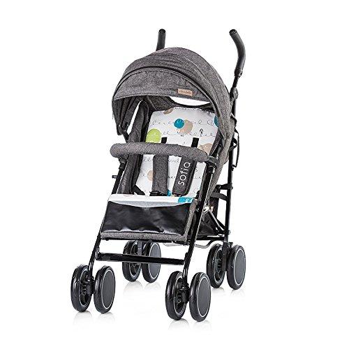 Chipolino Sofia, baby-kinderwagen, beige Grijs (jeans black)