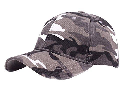 Aivtalk - Sombrero Deportivo Camuflaje para Hombre Mujer de Algodón Transpirable Cierra de Velcro para Senderismo
