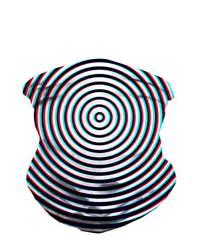 iHeartRaves Optical Illusion Multi-functional Seamless Rave Mask Bandana