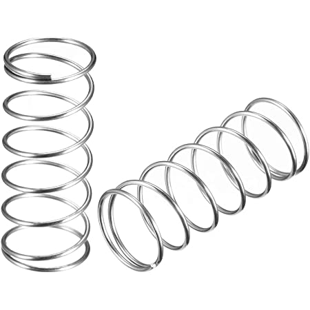 sourcingmap Compression Spring,304 Stainless Steel,7mm OD,0.5mm Wire Size,15mm Free Length,Silver Tone,20Pcs