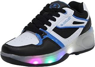 SDSPEED Kids Roller Skates Shoes Girls Boys Roller Shoes Wheel Shoes Roller Sneakers Shoes with Wheels LED & Non-LED