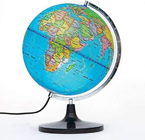 Gbksmm 12 Pulgadas Iluminadas Aprendizaje Geográfico Educativo Detallado 12 Pulgadas Diam Globo Terráqueo Telurion Globo Terrestre con Soporte para Niños Iluminación para Bebé Vista Nocturna