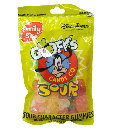 Disney World Parks Goofy Candy Co. Assorted Flavor Sour Character Gummies Family Size 6 oz. Bag Sealed - NEW