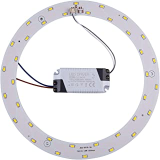Led Panel Ceiling Light Fixtures 18w 5730 SMD Circle Annular Round Retrofit Board Bulb (Warm White)