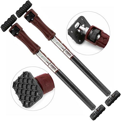 Piher® 2 x Bau-Stützen Lasten-Stangen Montage-Stützen Decken-Stütze Stange 60 bis 100 cm