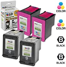 LD Remanufactured Ink Cartridge Replacement for HP 901 (2 Black, 2 Color, 4-Pack)