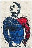 HuGuan Poster Und Gedruckte Simone Biles Tennissportdekor