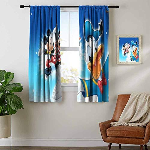 ZhiHdecor Blackout Window Curtain Mickey & Minnie Mouse 17.Jpg Rod Curtain