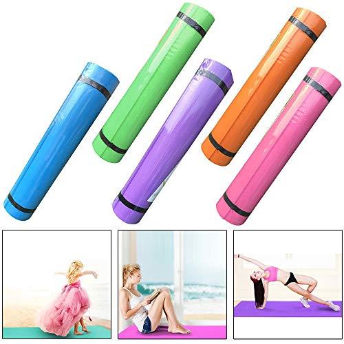 Nieuwe fitness oefening aanbiedingen EVA 8mm dik tapijt fitness yoga oefening mat slip duurzame leuke oefening prominente sport yogamat thuis met de transportband slip