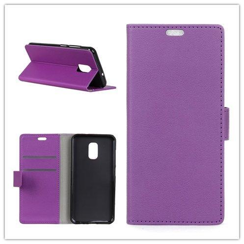 Funda® Flip Portefeuille Coque pour ASUS ZenFone V Live V500KL (Violet)
