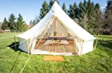 Life inTents Fernweh Bell Tents for Camping - 100% 390 GSM Weighted Cotton Canvas Camping Tents - The #1 Outdoor Waterproof Yurt Tent, Family Tent, Glamping Tent, Teepee Tent, fits Camping Stove