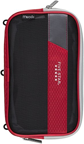 Mead Five Star Expandable Pop-Up Pouch / Case, Red (50218)