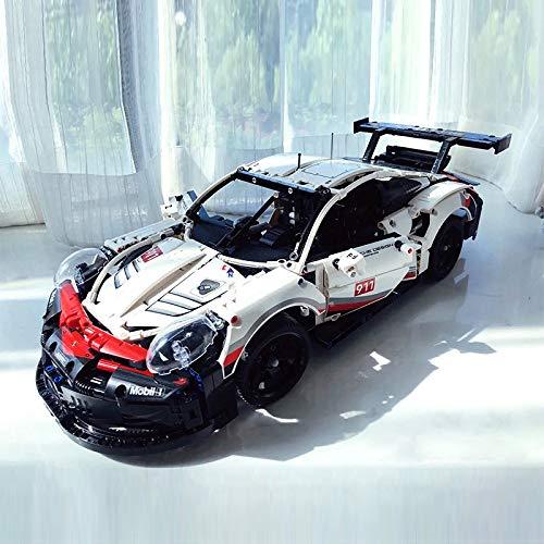 Rawikan 911rsr Composición Mecánica Inteligencia Humana Montaje Bloques de Construcción Modelo Difícil Juguetes (Compatible con Lego)