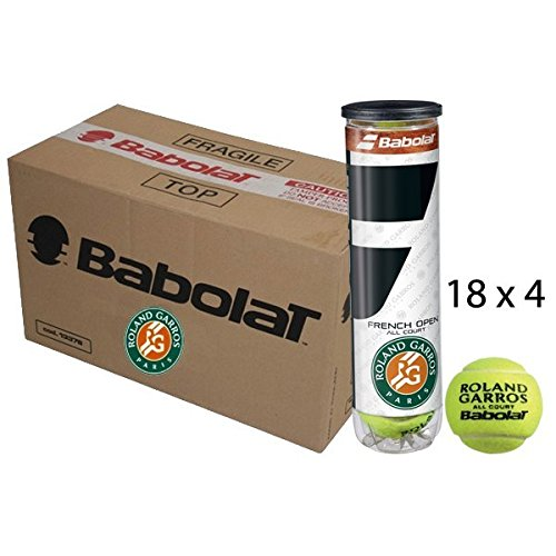 Babolat Cartone 18 Tubi 4 Palline Tennis French Open all Court