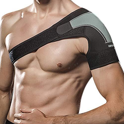 EULANT Schulter Unterstützung Bandage, Schultergelenk Bandage, Stützt und Stabilisiert das Schultergelenk, Linderung Schultergelenk Schmerz, Einstellbare Schulterschützer, Linke Schulter