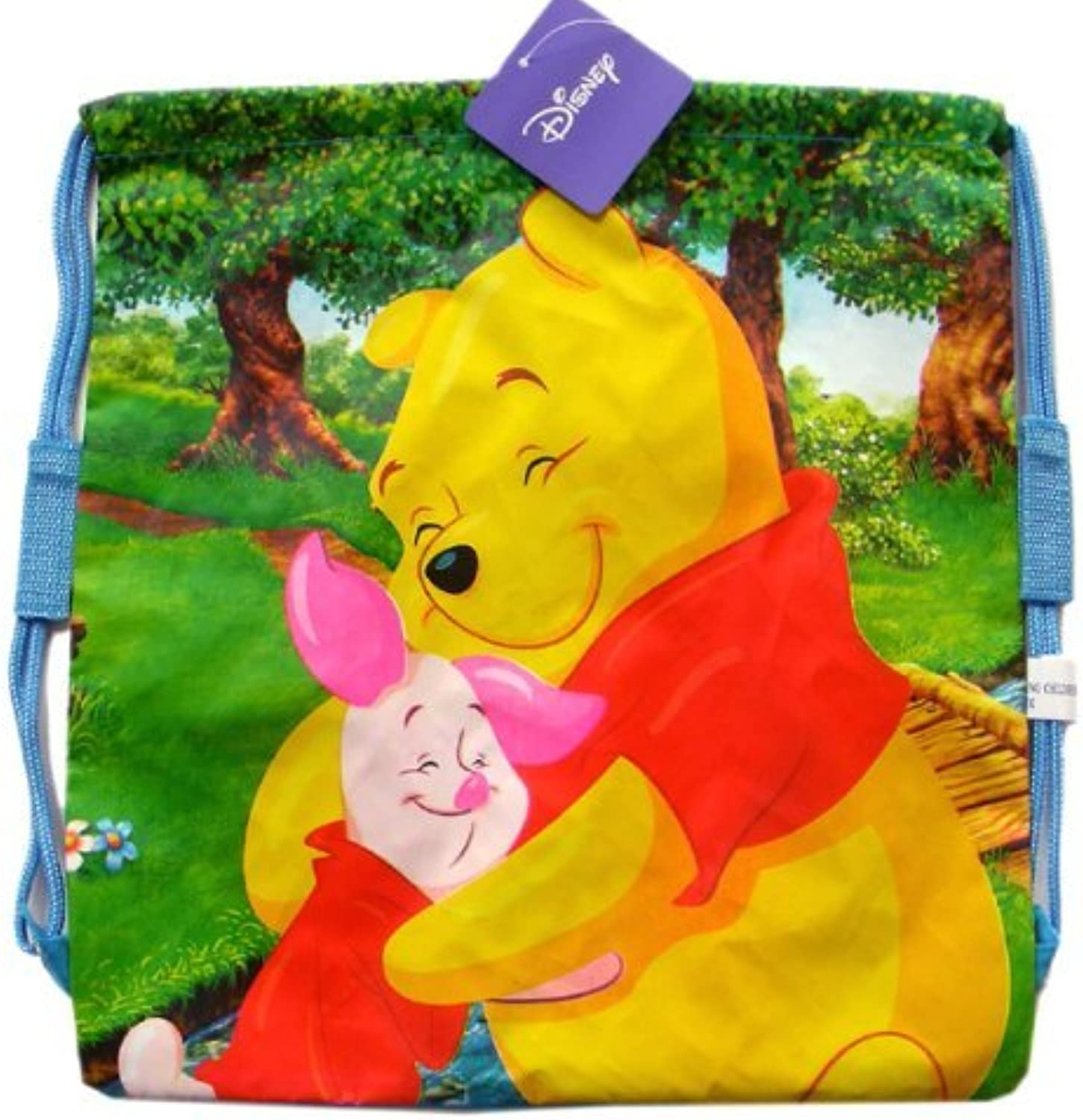 Winnie The Pooh Drawstring Backpack  Disney string bag inspired by friends o...