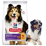 Hills Science Plan Adult 1+ Sensitive Stomach And Skin Medium With Chicken Dry Dog Food 14kg
