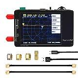 NanoVNA Vector Network Analyzer, 2.8inch 50KHz-1.5GHz LCD Pantalla táctil Digital Pantalla de Onda Corta MF HF VHF UHF Antena Analizador Onda estacionaria