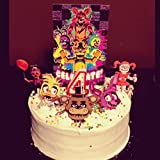 Five Night's At Freddy's Inspired Cake Topper, FNAF Cake Topper, FNAF Party supplies, FNAF Birthday cake topper, FNAF Cake Theme