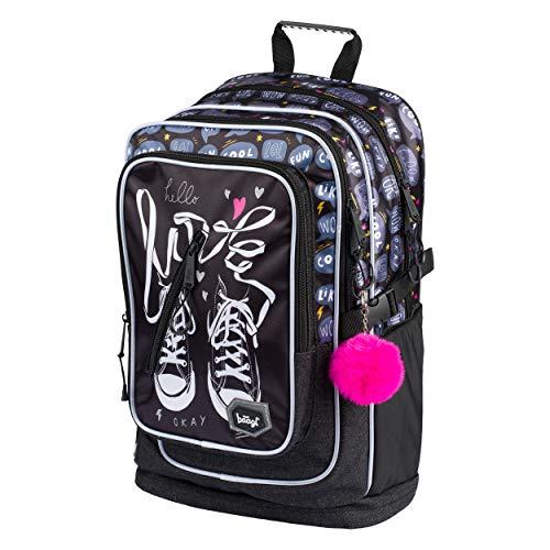 Schulrucksack Für Mädchen Teenager – Ergonomischer Kinderrucksack mit Laptopfach Für Schule – Extrem Leicht Rucksack mit Brustgurt und Reflektierenden Elementen by Baagl (Turnschuhe)
