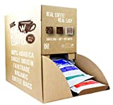 Fresh Ground Coffee Bags | Fairtrade | Single Origin | 100% Arabica | 100 Coffee Bags - Great for Office | B&B | Hotel | Hospital | Catering (Medium Roast - Guatemala, Central America)