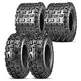 OBOR Advent ATV Tires 21x7-10 Front & 20x11-9 Rear, 6 Ply GNCC Champion Tires, 21x7x10 & 20x11x9 ATV Race Tires (4 Pack)