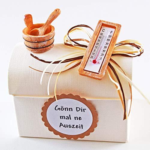 Geschenk Box Gönn Dir mal ne Auszeit für Geld Gutschein/Sauna Wellness Urlaub